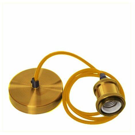 Lámpara Colgante Styling Dorada 1XE27 Dorado   IluminaShop