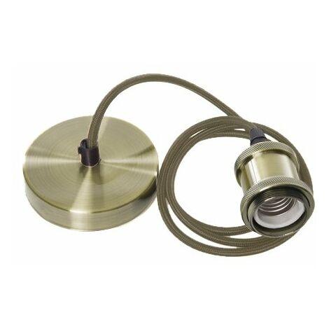 Lámpara Colgante Styling Verde Cepillado 1XE27   IluminaShop