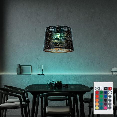 """main image of """"Lámpara colgante techo oro negro control remoto regulable En el conjunto incluidas bombillas LED RGB"""""""