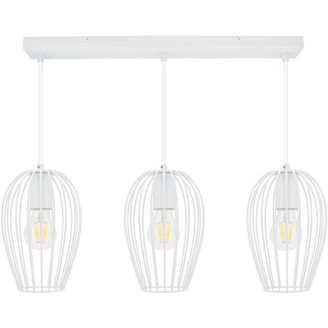 Lámpara Colgante Telmi 3 Focos Blanco Blanco
