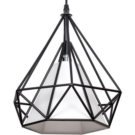 Lámpara colgante tipo jaula modelo Lázaro con reflector (Fabrilamp 072992002)
