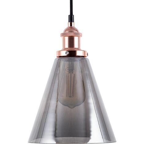 Lámpara colgante vidrio/cobre ENZA S