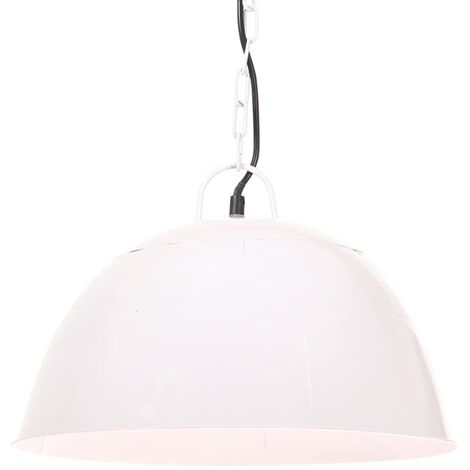 Lámpara colgante vintage 25 W blanca redonda 41 cm E27