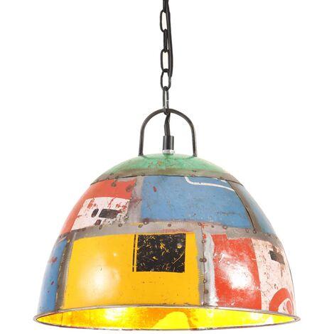 Lámpara colgante vintage 25 W multicolor redonda 31 cm E27