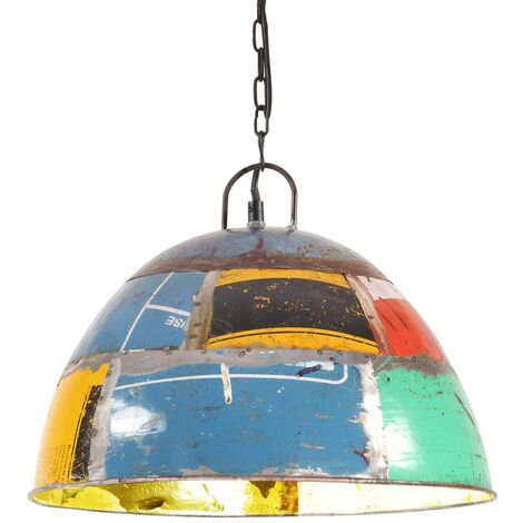 Lámpara colgante vintage 25 W multicolor redonda 41 cm E27