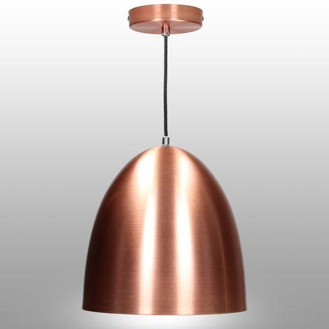 Lámpara colgante vintage bombilla de techo tubo decorativa metálico rosa E27