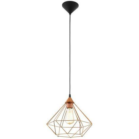 Lámpara colgante vintage con jaula de metal de color cobre 20-240 V IP20   rame
