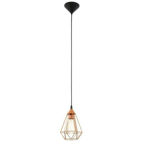 Lámpara colgante vintage con jaula de metal teñido de cobre 220-240 V IP20   rame
