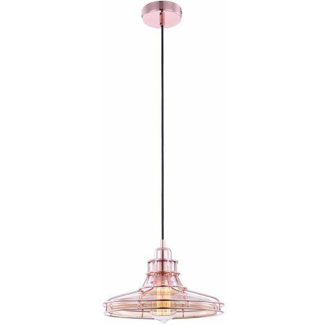 Lámpara colgante vintage foco de techo de cobre vidrio champán lámpara colgante retro Globo 15148