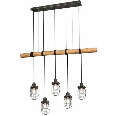 Lámpara colgante vintage, jaula, focos de techo, iluminación para sala de estar, lámpara de péndulo, trío 308100567