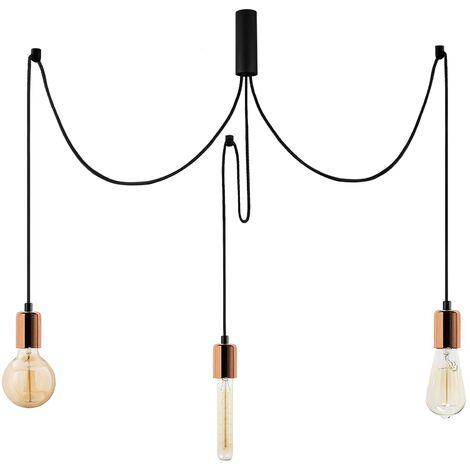 "Lámpara Colgante vintage ""Kabluni - MR - 915"" Cobre 3xE27 Sin Bombilla [OPV-536NTD1116] (OPV-536NTD1116)"