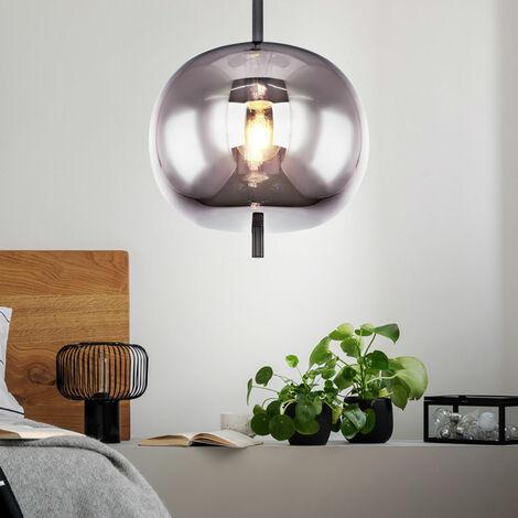 Lámpara colgante VINTAGE lámpara colgante de techo de vidrio de filamento regulable en un conjunto con lámpara LED