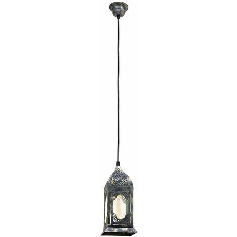 Lámpara colgante vintage linternas diseño sala de estar luz de techo lámpara colgante plata Eglo 49209