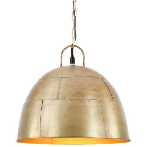 Lámpara colgante vintage redonda 25 W latón 31 cm E27
