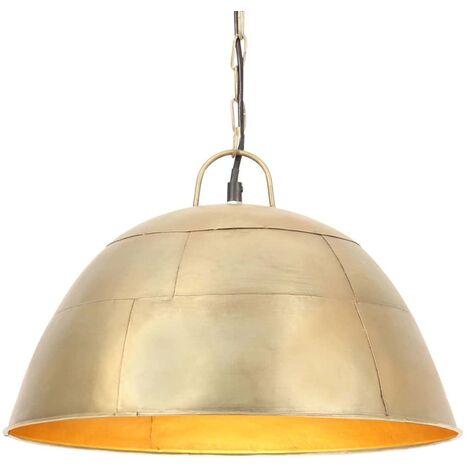 Lámpara colgante vintage redonda 25 W latón 41 cm E27