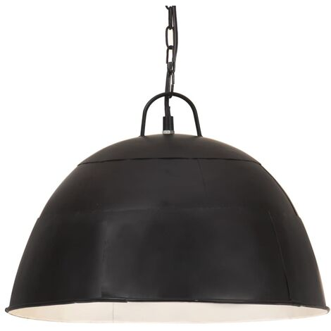 Lámpara colgante vintage redonda 25 W negro 41 cm E27