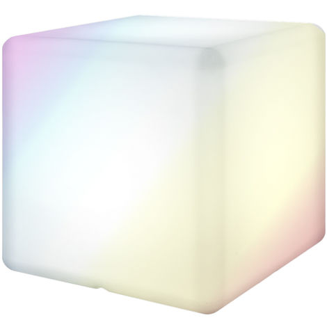 Lámpara con mando de luz led blanca, de 30x30x30 cm