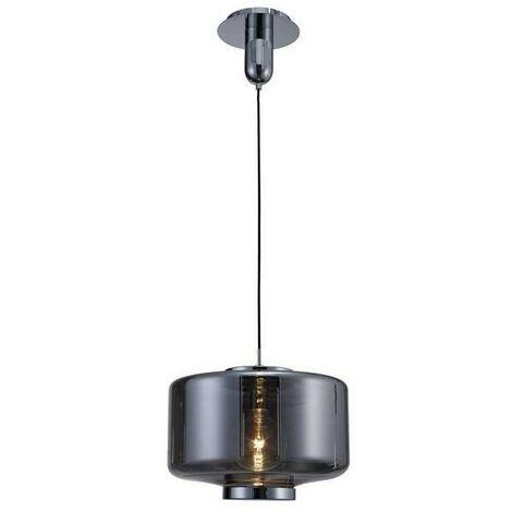Lámpara con tulipa cristal espejado grafito JARRAS de Mantra