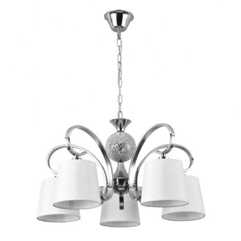 Lámpara Concordia cromo/blanco regulable D60