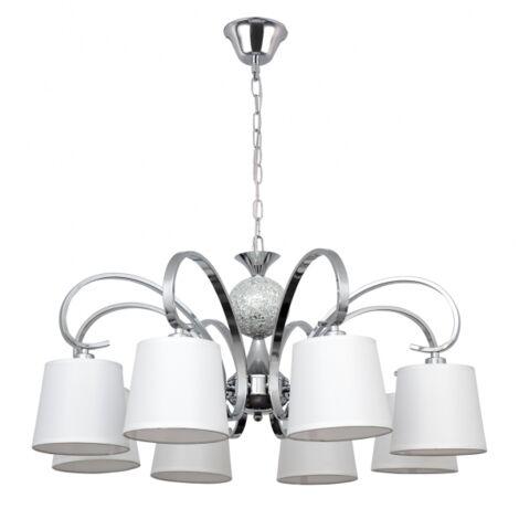 Lámpara Concordia cromo/blanco regulable D75