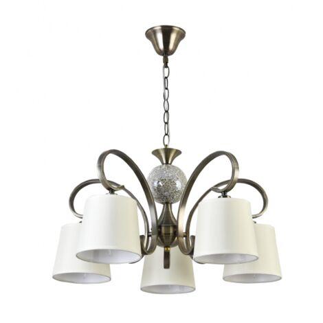 Lámpara Concordia cuero/beige regulable D60