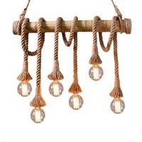 Lampara cuerda colgante Bamboo E27