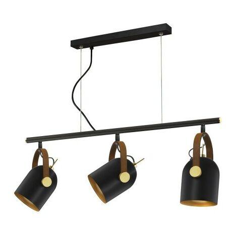 Lámpara de 3 luces ADAME negro-oro de Schuller