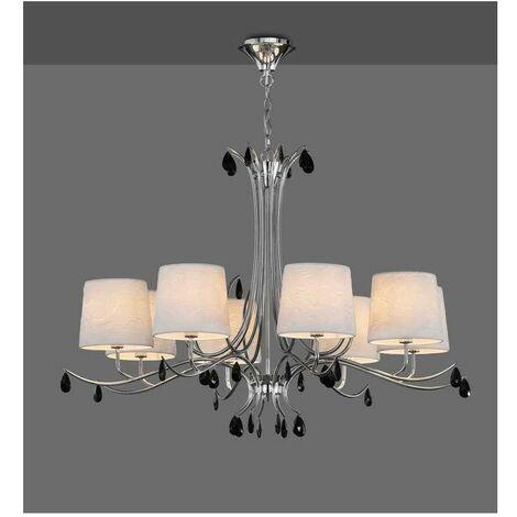 Lámpara de 8 luces para salon grande modelo ANDREA cromo