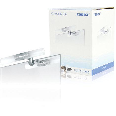 Lámpara de acero para espejo 230 V Ranex