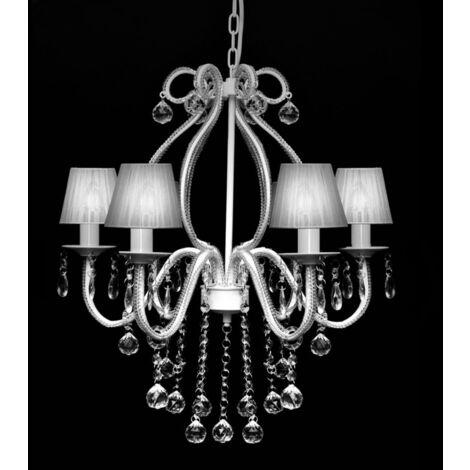 """main image of """"Lámpara de araña colgante, candelabro de metal con 2300 cristales - Blanco"""""""