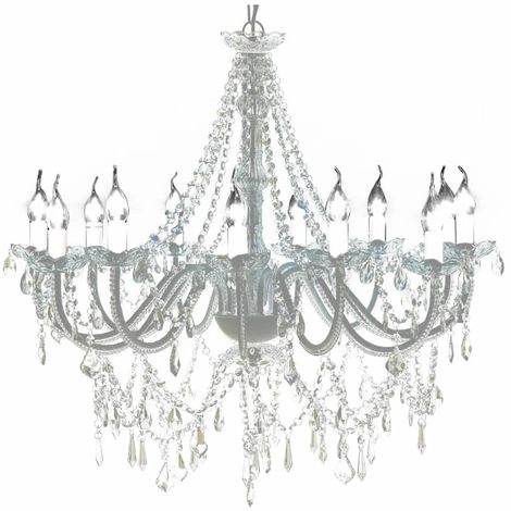 Lámpara de araña colgante con 1600 cristales