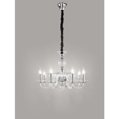 Lámpara de arana con 8 luces de metal y cm 0 PERENZ 6498 TR