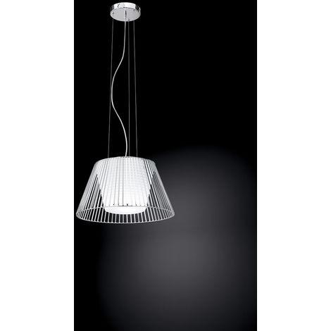 Lámpara de arana cromada con difusor bla cm 0 PERENZ 6460 CL