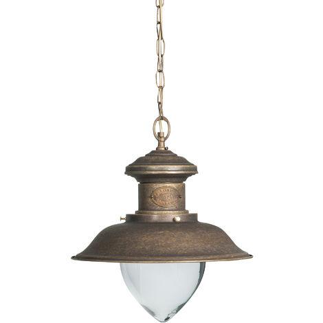 Lámpara de araña de estilo Veja Marina en moldeo de latón con efecto envejecido Diam.40XH105 cm Made in Italy