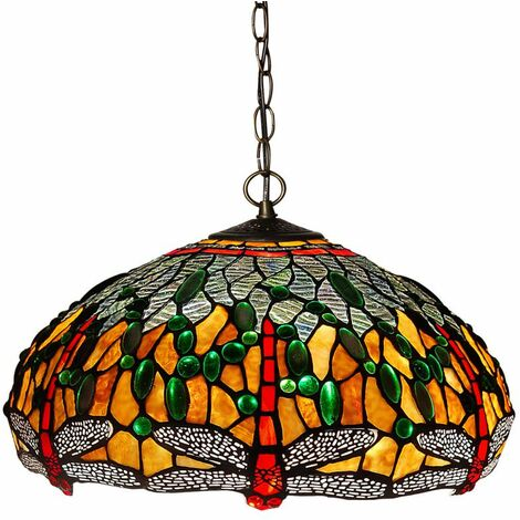Lámpara de arana Tiffany con pantalla de cm 0 Artedalmondo CD16123