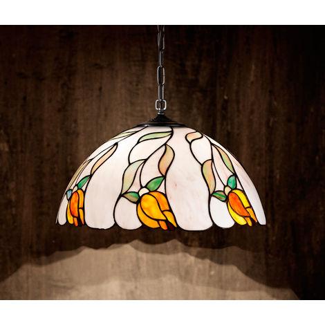 Lámpara de arana Tiffany de 40 cm con ca PERENZ PERENZ-T937S