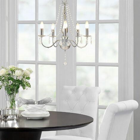 Lámpara de araña (zócalo 5 x E14)(68,0 cm x Ø 52,0 cm) Lámpara de techo - 5 brazos - cristal