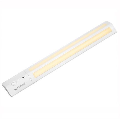 Lámpara de armario LED con sensor de movimiento recargable 3000K Tira blanca magnética 3M de color blanco cálido para armario