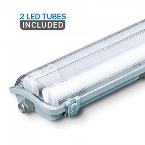 Lámpara de bañera LED de 44 vatios Pasillos de techo Lámpara de tubo Proyector de almacenamiento en habitación húmeda VTAC 6388