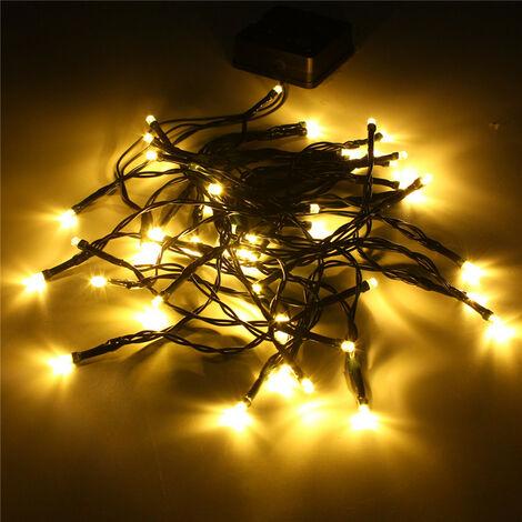 Lámpara de barra de cumpleaños con 50 luces LED de cadena de hadas con energía solar para jardín (multicolor)