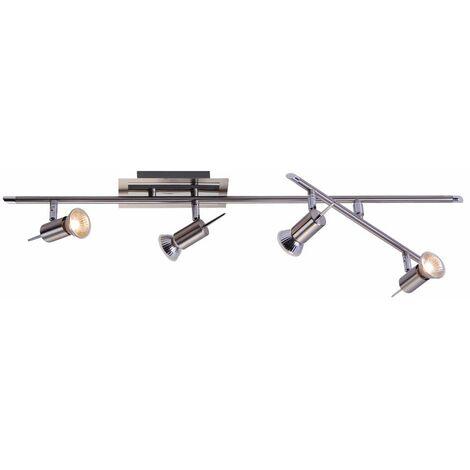 Lámpara de barra de foco de luz de techo de diseño iluminación de sala de estar ajustable Globo 5797-4