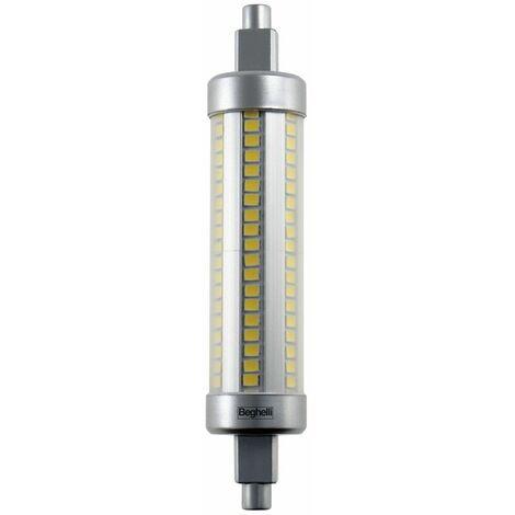 Lámpara de Beghelli LED R7S 118MM 10W 4000K luz blanca 56807