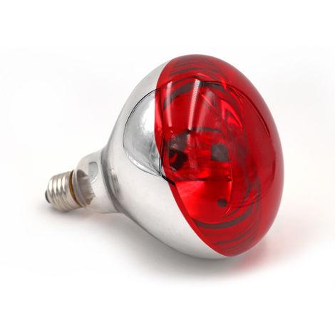 Lampara de calor de reptiles,Bombilla de lampara para mascotas,250W,Plana,Rojo