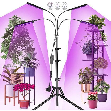 Lámpara de Crecimiento de Plantas Luz de Planta LED, Luz de Relleno de Planta con Función de Temporizador para Plantas de Interior