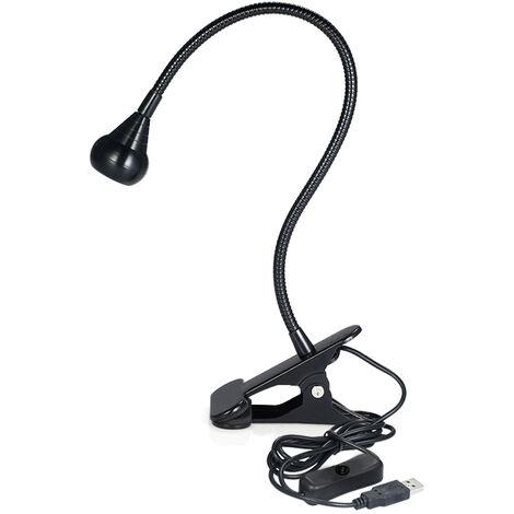 Lampara de curado ultravioleta USB, luz de cuello de cisne con luz negra LED