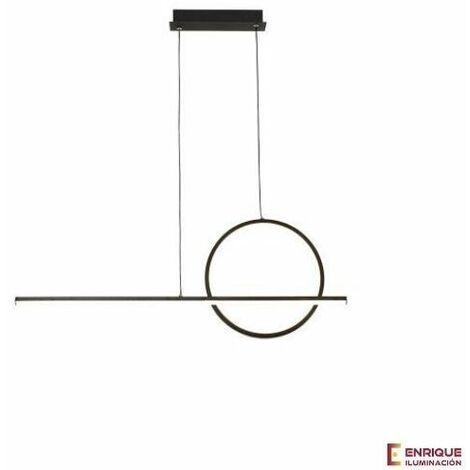 Lampara de diseño con aros KITESURF negra Ø 80cm