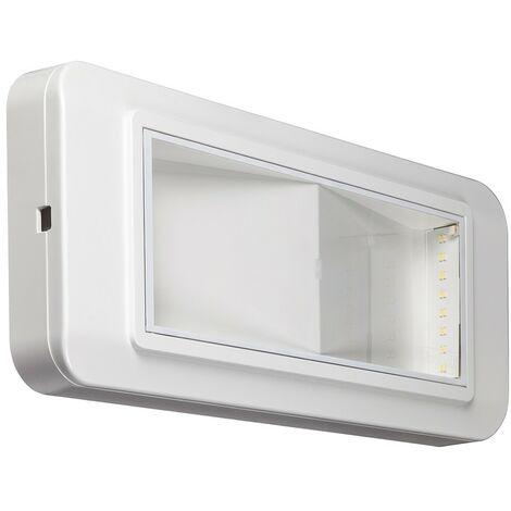 Lámpara de emergencia Beghelli LED SI 24W/1NC IP40 4108