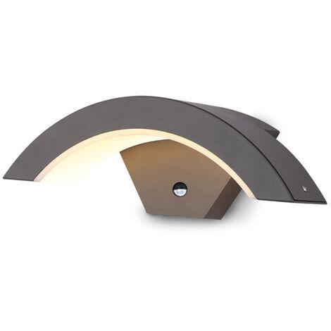 Lámpara de entrada de 15W Luz LED blanca cálida Arco exterior europeo Impermeable con sensor automático 220V Mohoo
