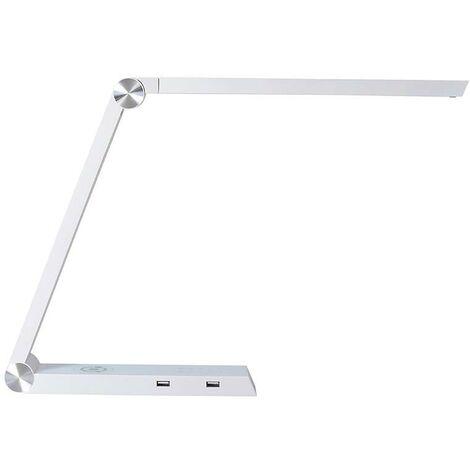 Lámpara de estudio Blanco TRIANGLE con Cargador Inalámbrico TI, Blanco dual, regulable