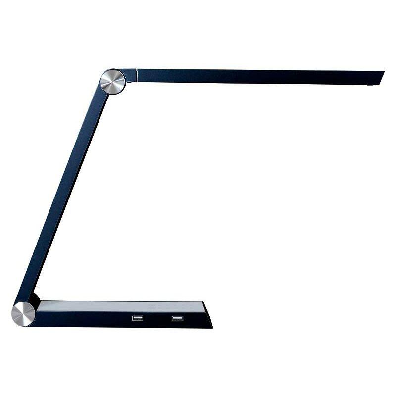 Ledbox - Lámpara de estudio Negro TRIANGLE con Cargador Inalámbrico TI, Blanco dual, regulable